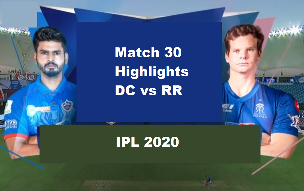 DC Vs RR Highlights 2020