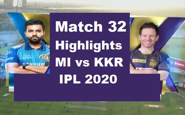 MI Vs KKR Highlights 2020