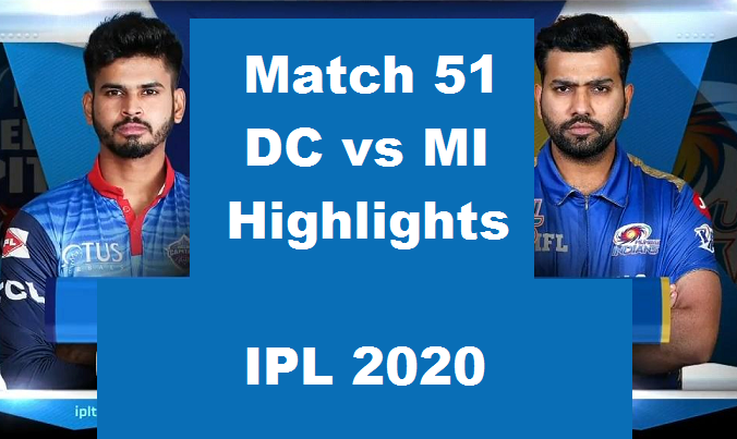 DC Vs MI Highlights 2020