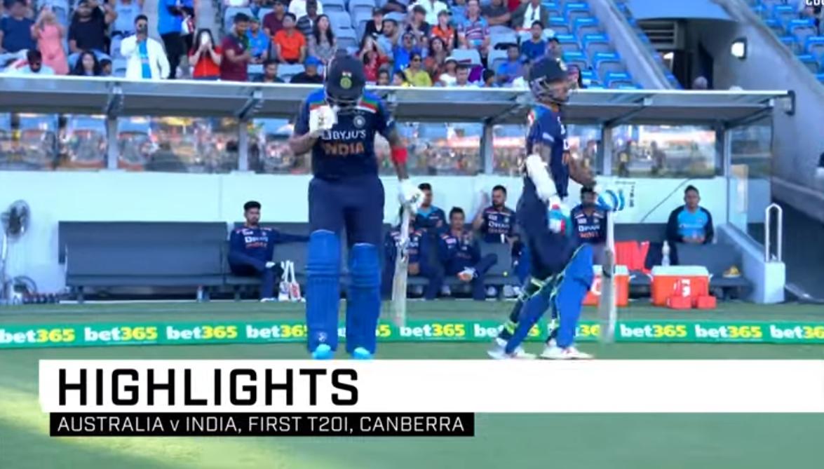 india vs australia highlights 1st t20 2020