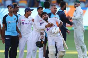 Team India at 4th test against Australia