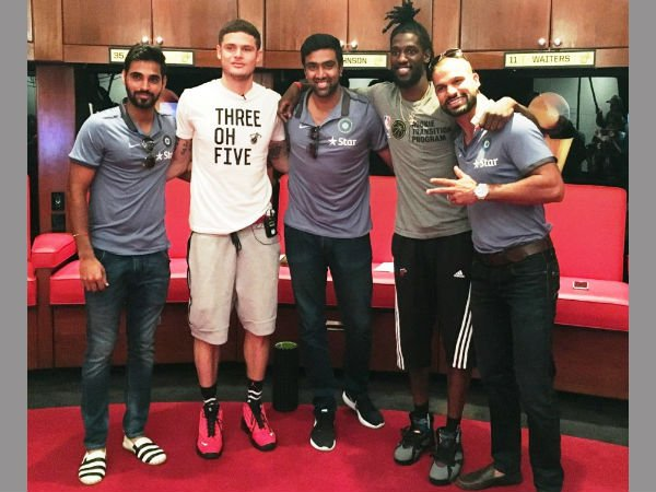 Cricket Stars Meet Miami Heat Players